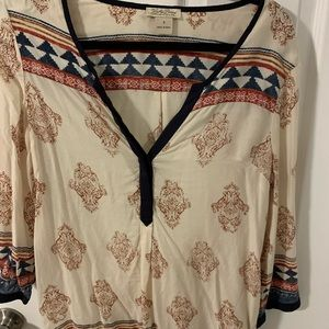 Lucky Brans tribal print tunic size S.